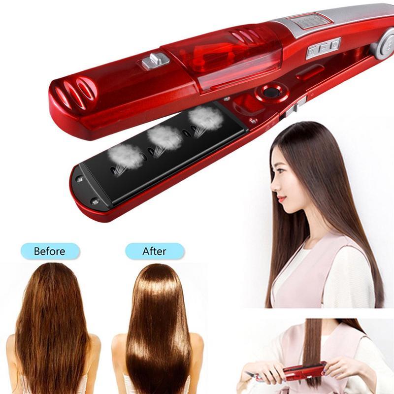 Hair Straightener Straightening Iron Electric Ceramic Vapor Steam Moisture Replenishing Curler Professional Styling Salon Tool