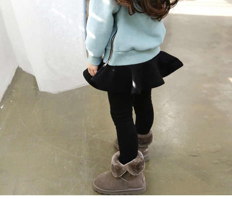 2019 Pure Kleur Meisjes Broek Kinderen Leggings 2-10Y Kinderen Kleding Herfst Katoenen Leggings Warme Baby Meisje Rok-broek Hoge kwaliteit