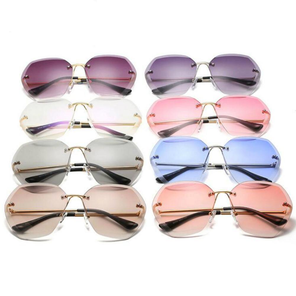 MISSKY Women Summer Sunglasses UV400 Professional Lady Frameless High Strength Sunglasses Female Accessory
