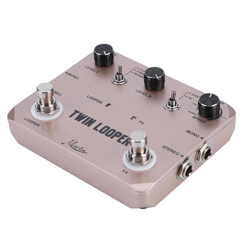 Rowin LTL-02 Station de bouclage double effet guitare électrique Station de boucle de pédale