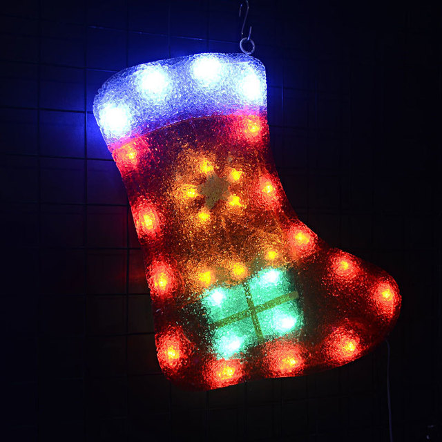 24V Christmas stocking hanging EVA motif light - 16.14 in. Tall navidad LED decoration christmas lights party festival lighting