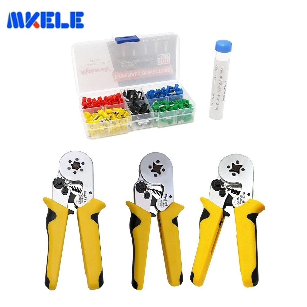 Round Nose Crimping Pliers Tool Terminals Crimping Mkhsc8 Electric Tube Terminals Sets E2508 300pcs Pen Soldering Wire 10g