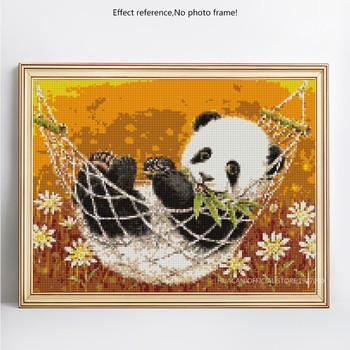 HUACAN 5D DIY Diamond Painting Panda Full Square Diamond Embroidery Animal Mosaic Picture Of Rhinestones