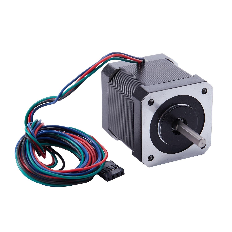 Nema 17 Stepper Motor 1.7 A 0.59 Nm 84 oz.in 48mm Body w/ 1m Cable & for