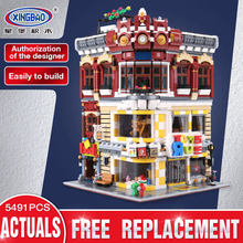 Xingbao 01006 Creative Moc City Series The Toys And Bookstore Set Compatible With LP Children Building Blocks Bricks Toy(China)