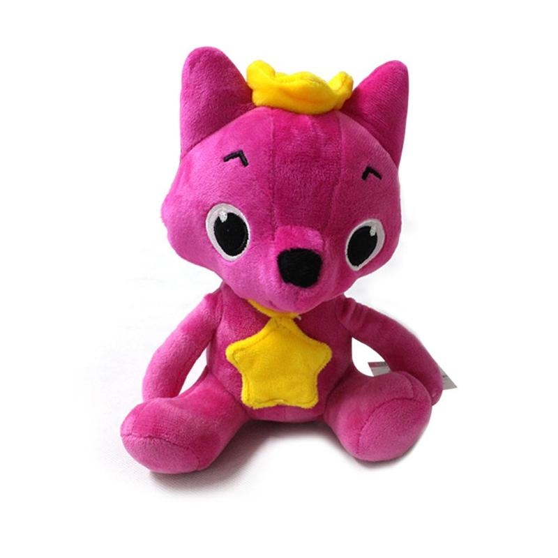 Cartoon Kawaii Stuffed Plush Toys Fox Soft Dolls Children Baby Animal Kid Toys Cute Music Toys Baby Accompany Doll