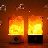 Himalayan Salt Lamp USB Novelty Crystal Light Air Purifier Night Light Rechargeable Bedside Salt Lamp Relieving Stress Lampada
