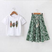 Summer Girls Clothes Sets Short Sleeve Shirt +Shorts