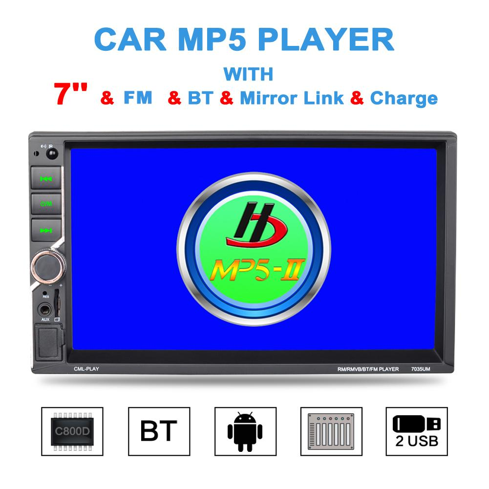 Universal Car MP5 Player HD 7 Inch 2DIN Car MP5 Player Steering Wheel Control Radio Bluetooth Hands-free Calls Car MP5 PlayerUniversal Car MP5 Player HD 7 Inch 2DIN Car MP5 Player Steering Wheel Control Radio Bluetooth Hands-free Calls Car MP5 Player