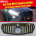 W117 GTS стиль решетка ABS Серебряная сетка без эмблемы подходит для W117 Sports CLA180 CLA200 CLA250 передний бампер решетки 2014-2018