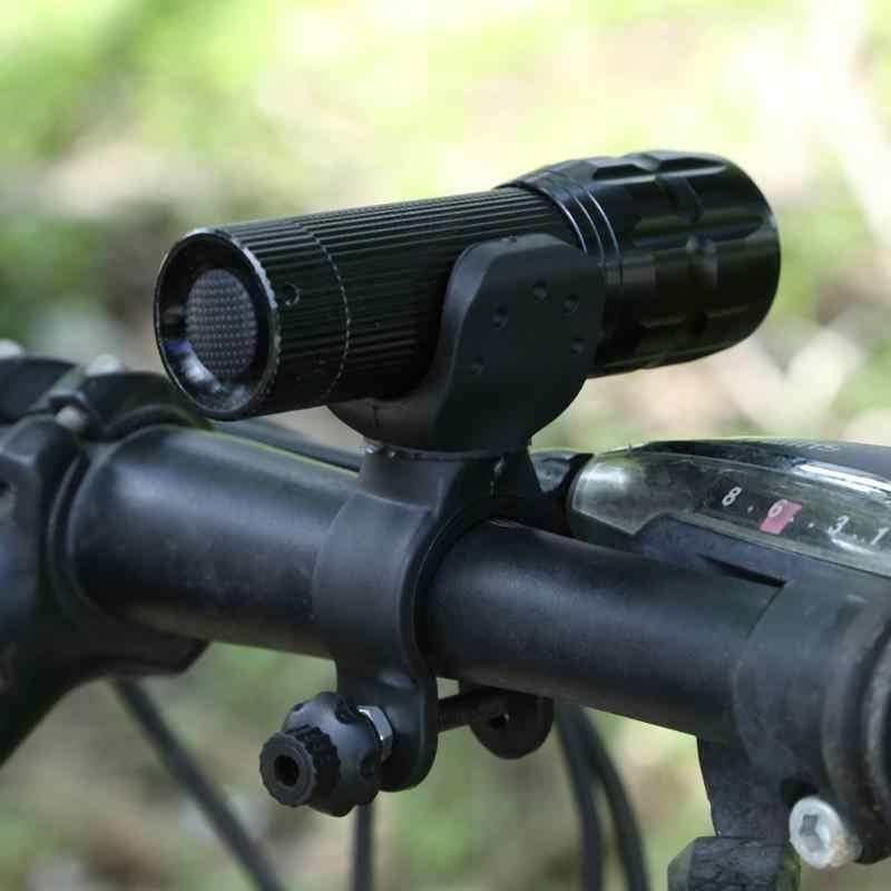 1 шт. портативный велосипедный фонарик велосипеда велосипедный фонарь крепежи зажима 360 градусов вращение факел крепление для светильников кронштейн с креплением черный