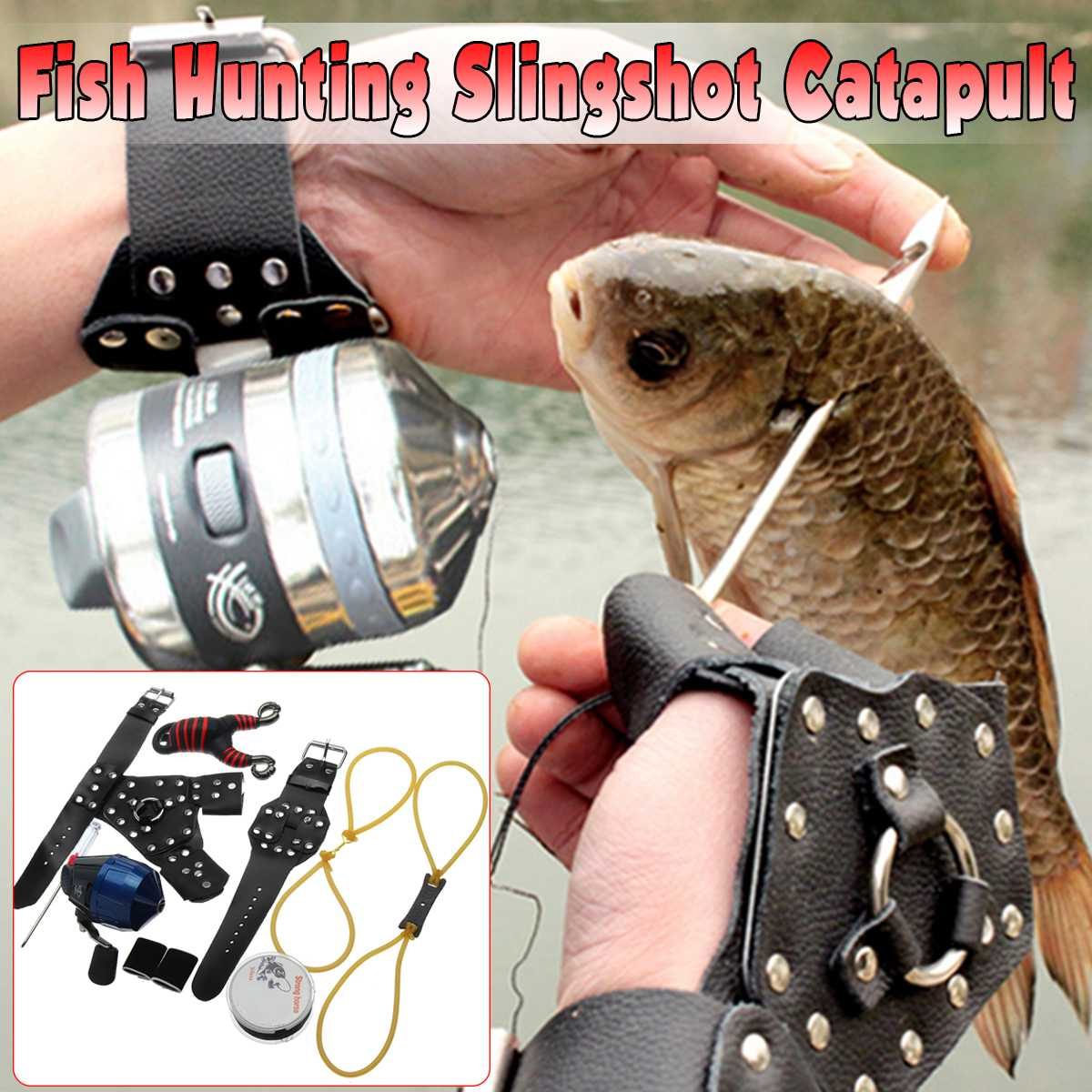 Bow & Arrow Orderly Diy Fishing Slingshot Catapult Fish Hunting Kit Wristband Guard For Right/left Hand Rubber Outdoor Protective Sports Tools Moderate Cost