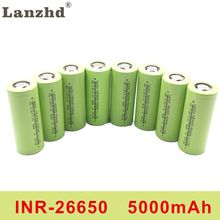 цена на 8PCS INR26650  battery 26650 rechargeable battery 26650 lithium battery 3.7V 5000mA 50A 26650 Suitable for flashlight
