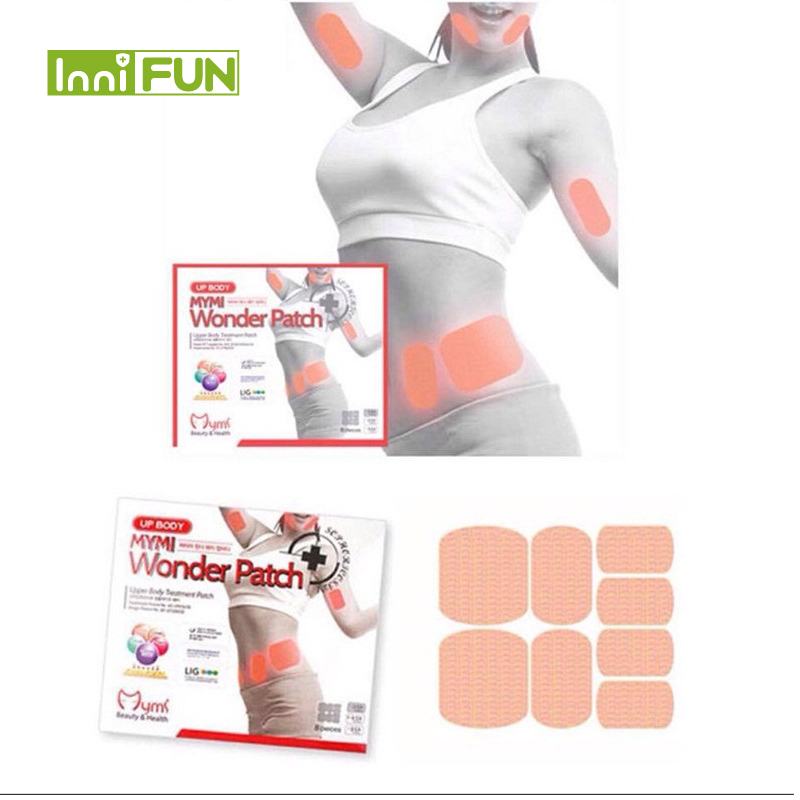 24pcs/lot Mymi Wonder Sliming Patch Abdomen Treatment Weight Loss Products Health Fat Burning Slimming Body Waist Slim Mask