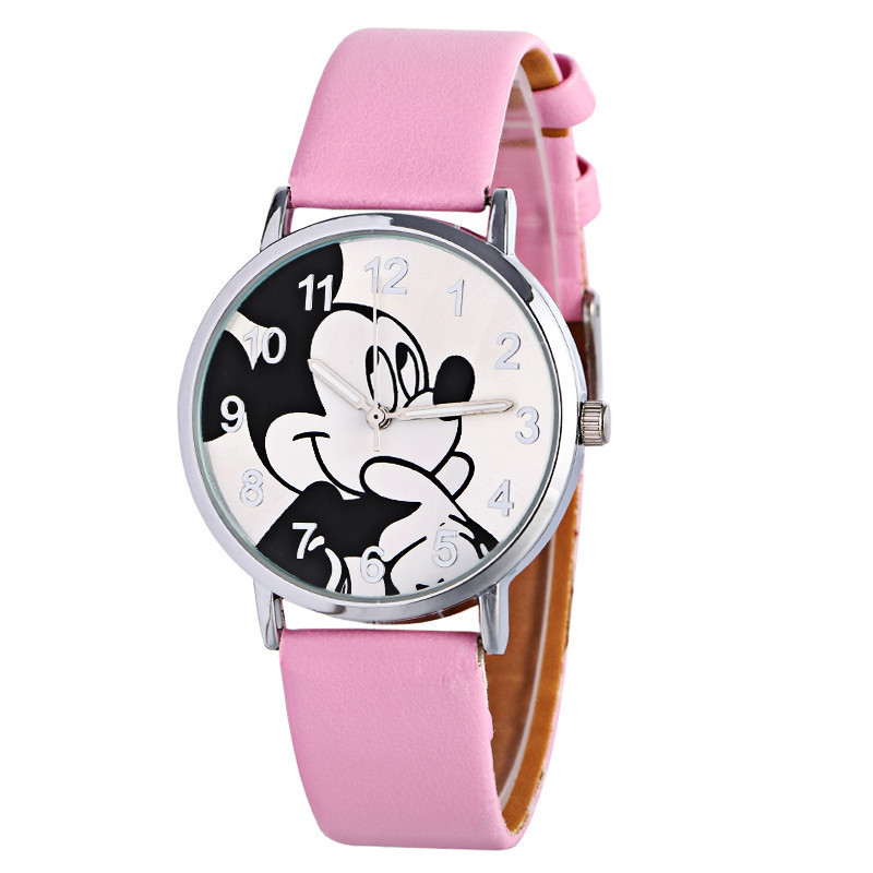 Children Cool Mickey Mouse Watch Boys&girls Fashion Belt Quartz Watch Gift