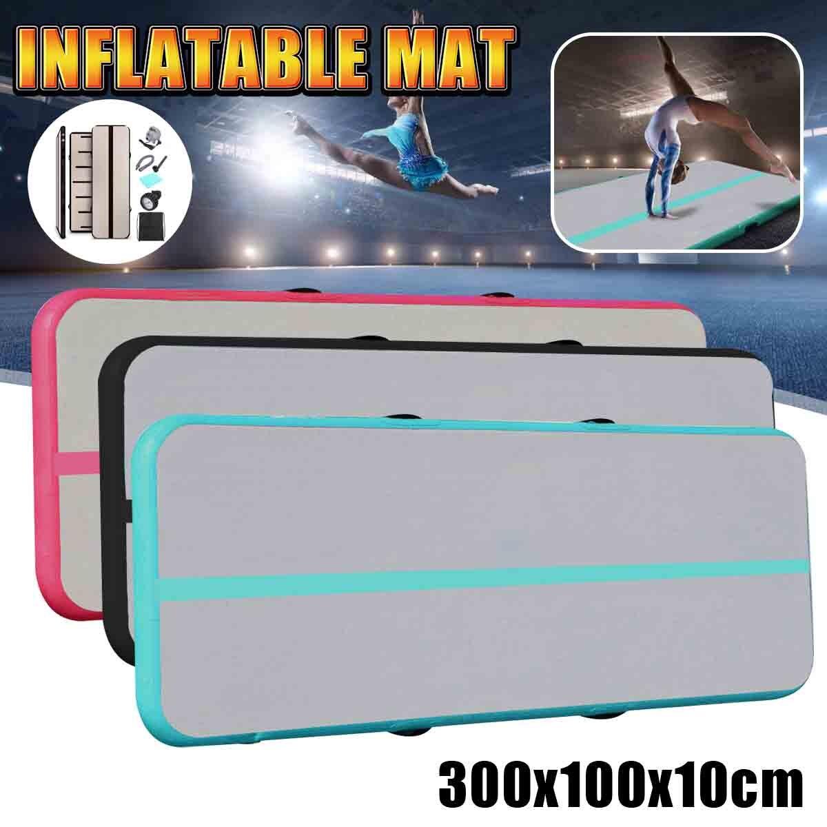 300x100x10 cm tapis de gymnastique gonflable avec pompe à Air Airtrack gymnastique Air culbuteur Trampoline pour Yoga Taekwondo