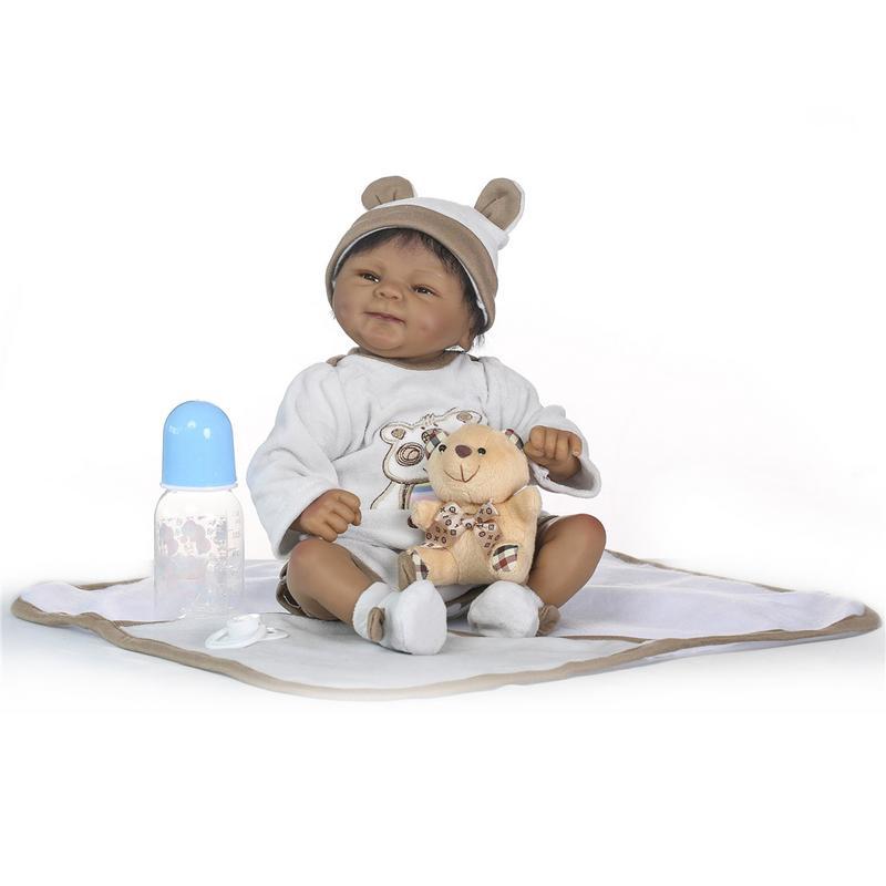 Belle Bebes Reborn poupée 48 cm nouveau fait à la main Silicone Reborn bébé Adorable réaliste enfant en bas âge fille enfant Silicone Lol poupée