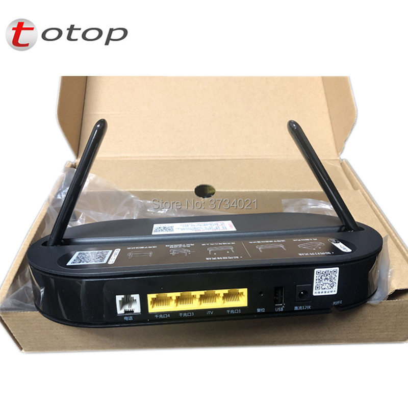 Factory Sale Huawei HS8145V EPON ONU ONT 4GE 1Voice 2.4G 5G WiFi Router, English Firmware FTTH EPON ONU Modem Made In China