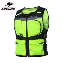LYSCHY Hi-viz, мотоциклетный жилет, куртка для верховой езды, одежда, бронежилет для мужчин, защита для байкеров, мотоциклетный костюм, жилет, гоночные жилеты