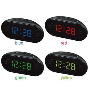 Image 4 - Przenośny głośnik LED cyfrowy budzik zegar AM/FM podwójny kanał Radio odtwarzacz wielofunkcyjny Stereo Hd dźwięki urządzeń biuro w domu