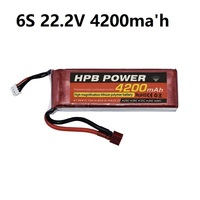 6S 22.2V 4200mAh 45C Lipo Battery 6S LiPo Battery 22.2V Lithium Polymer Battery For RC Helicopters Car Boat RC Drone Battery HPB
