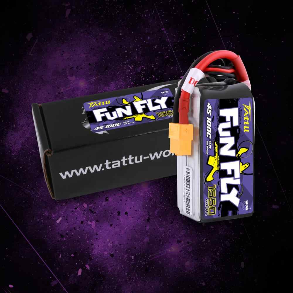 Татту funfly 1550 мА/ч, 100C 14,8 V Lipo 4S Батарея XT60 разъем для FPV рамка практика 250 230 210 180 Размеры быстроходный беспилотный Радиоуправляемый летательный аппарат