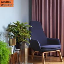 Modern Velvet Purple Beautiful Curtains Luxury Living Room Curtain For Bedroom Blackout Fabric