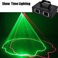 Шоу время полноцветный RGB DMX 512 лазерный сканер проектор сценическое освещение эффект вечерние DJ Дискотека огни двойная головка лазер