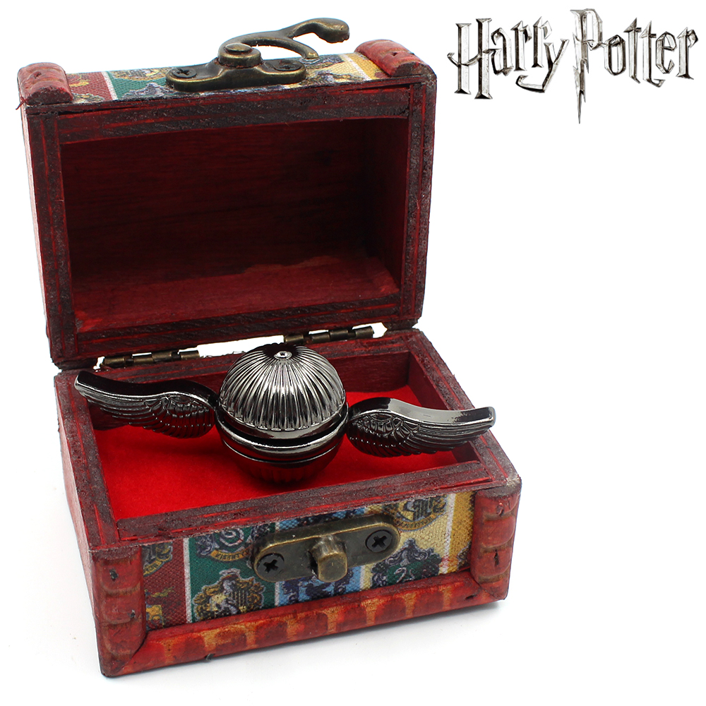 OHCOMICS Gryffindor Quidditch Harri Potter Hand Spinner Golden Snitch Fidget Spinner Wings Spiner EDC Finger EDC Toy+Wooden Box