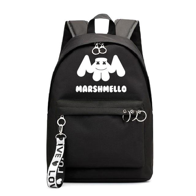 Famoso Cantor Marshmello 4-6 Mochila de Viagem Mulheres Mochil 1-5 Backbag Rosa Sacos De Escola Para Adolescentes Meninas saco de livro Saco um Dos