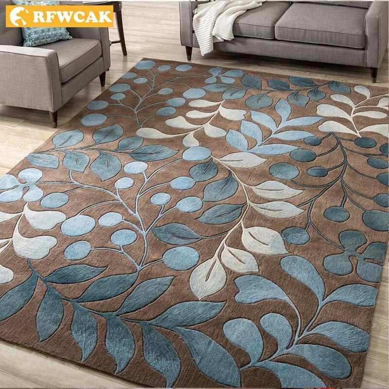 RFWCAK Nordic Abstract Flower Art Carpet For Living Room Bedroom Anti-slip Large Rug Floor Mat Fashion Kitchen Carpets Area Rugs