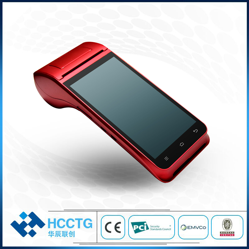 El kablosuz bluetooth Termal makbuz yazıcı Dokunmatik Ekran usb SIM Kulaklık Android WIFI GPRS Mobil POS Terminali Sistemi