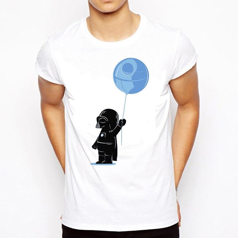 Star Wars T-Shirt Robot Shirt Star Wars The Last Jedi Men's Sleeve T Shirt Tops Fashion Tees Darth Vader Streetwear  T Shirt