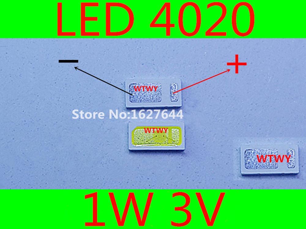 1000pcs For EVERLIGHT LED LCD TV Backlight Application LED 4020 LED Backlight Cool white High Power