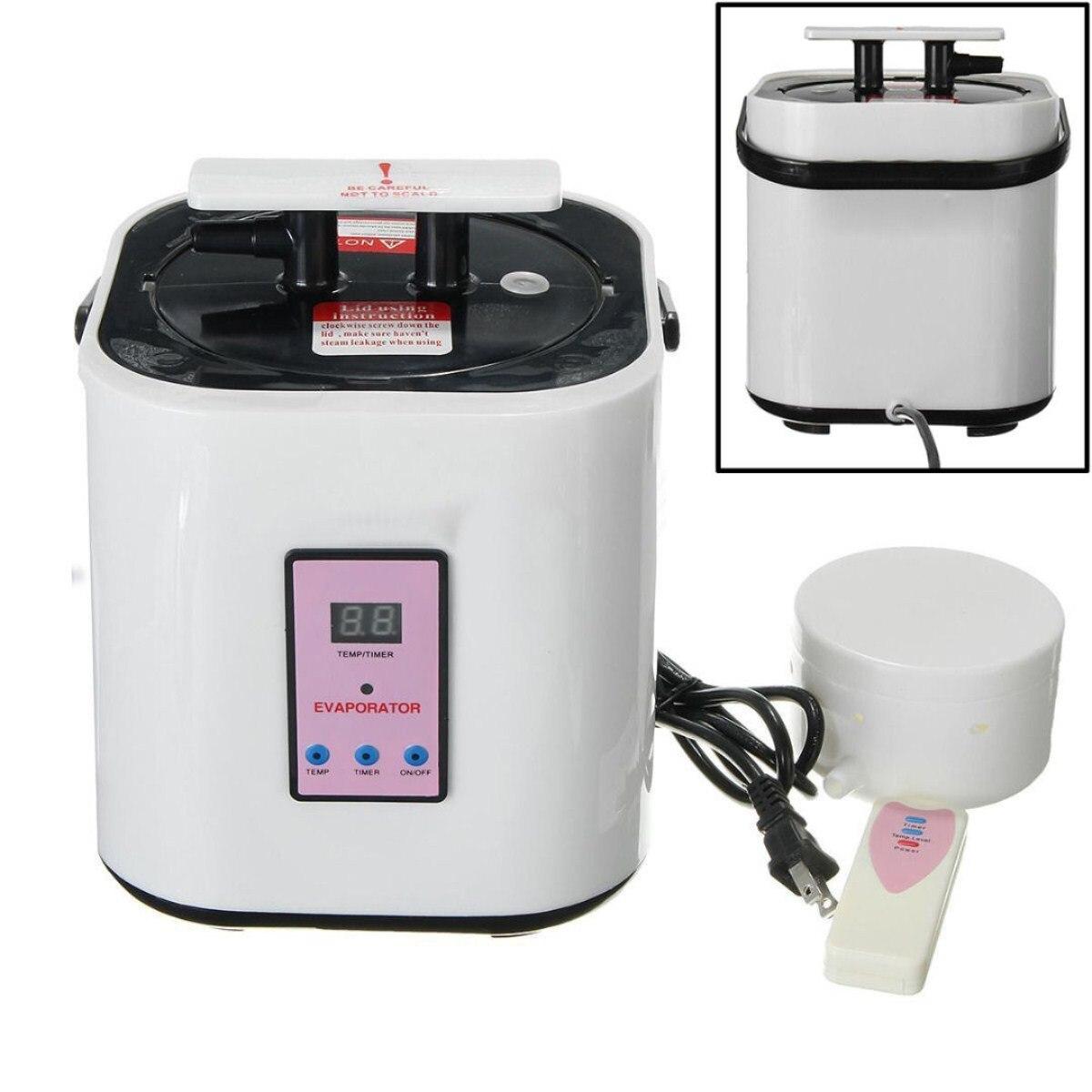 2L Sauna vapeur Pot en acier inoxydable générateur de vapeur à la maison pour Portable vapeur Sauna Spa perte poids peau bain