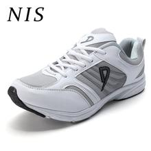 NIS Men Sneakers For Man Sports Shoes Breathable Mesh Lace-up Running Casual Shoes Vulcanize Non-slip Sneakers Plus Size 45-52