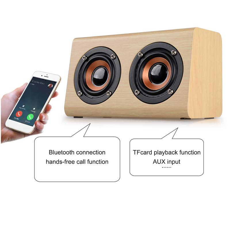 Image 4 - Portable Player Retro Wireless Bluetooth Speakers Handcrafted Wooden Stereo Hd Sounds Surround Devices For Travel Home Outdoor-in Portable Speakers from Consumer Electronics