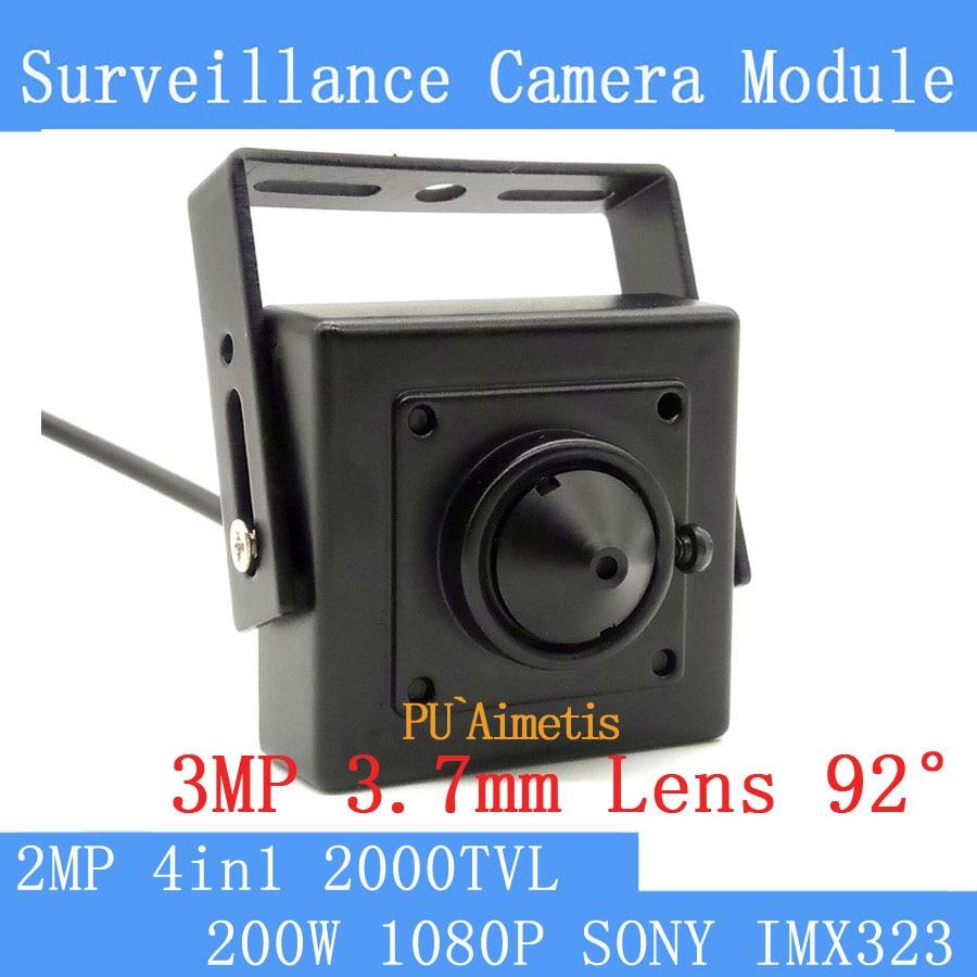 PU`Aimetis AHD 1080P 2000TVL 2MP Mini CCTV Camera 1/3SONY IMX323 Color Camera Low 0.001lux, 30*30mm Surveillance CamerasPU`Aimetis AHD 1080P 2000TVL 2MP Mini CCTV Camera 1/3SONY IMX323 Color Camera Low 0.001lux, 30*30mm Surveillance Cameras