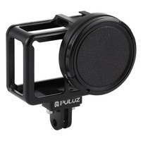 PULUZ Aluminum Alloy Protective Cage Case For Hero 7 Black/6/5 With Insurance Frame & 52mm UV Lens