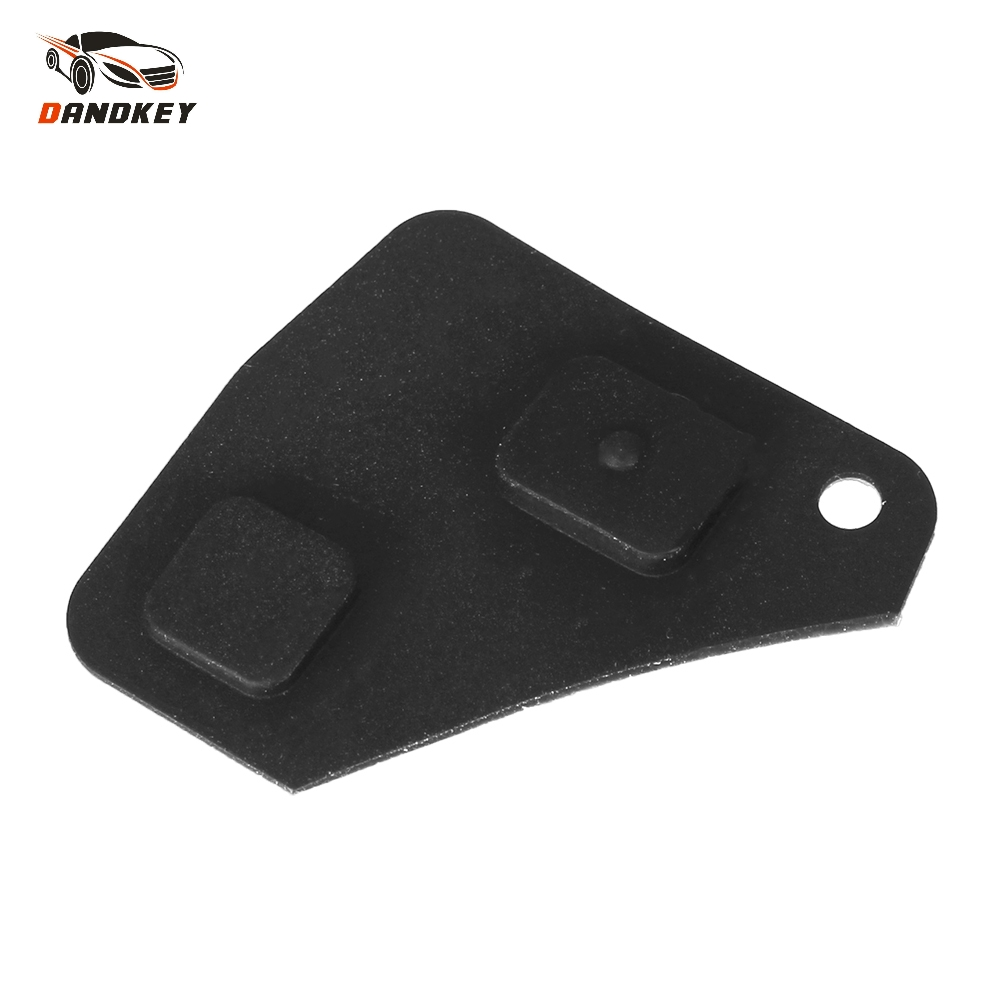 Dandkey 2PCS Replacement 2/3 Button Remote Key Fob Repair Kit Switch Rubber Pad For Toyota Key RAV4 Corolla Camry Prado Black(China)