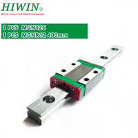 HIWIN MGN12C slide block with 400mm MGN12 Linear Guide Rail for 12mm Miniature CNC kit