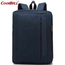 Cool Bell Multifunctional Men Women Backpack Waterproof Laptop Backpack 15/15.6/17/17.3 inch School Bags for Teenage Boys Girls