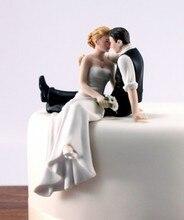 2017 gorąca sprzedaż Decoracion Boda Boda Wedding Favor i dekoracji wygląd miłości Bride Groom figurka pary ozdoba na wierzch tortu K6367