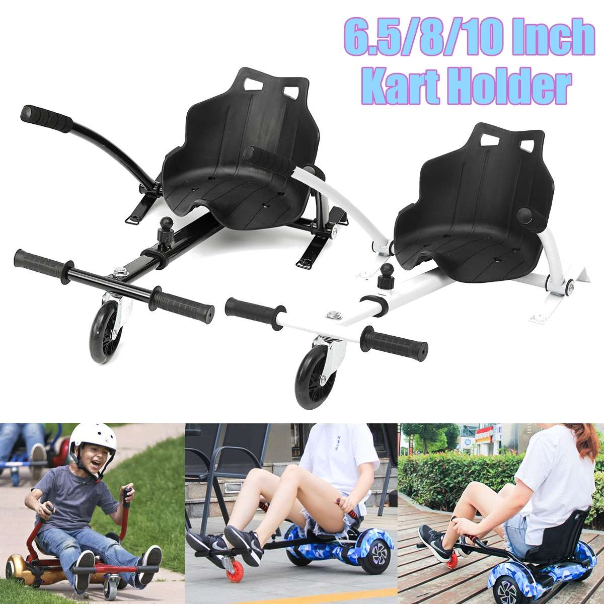 Hoverboard Go Kart Hover Cart Holder Seat Stand Rack for 6.5 810 Balance Scooter Universal Scooter Accessories Adjustable