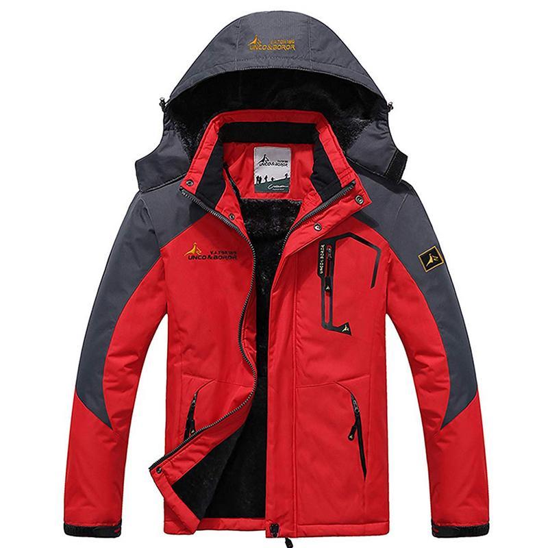2019 Large Size 8 Colors Warm Outwear Winter Jacket Men Windproof Hood Men Jacket Warm Men