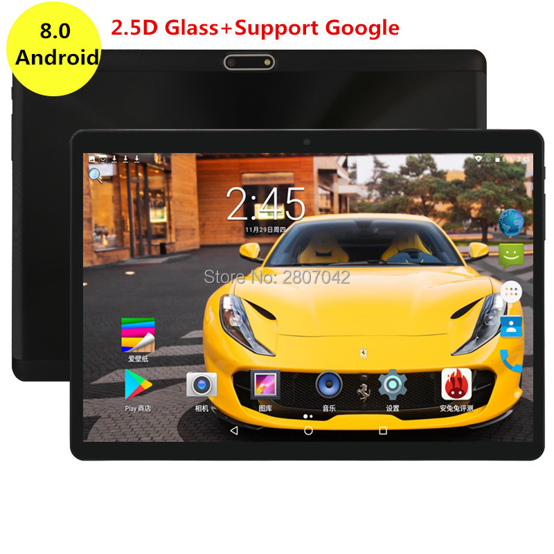 Google 10 Inch Tablet Android 8.0 4GB RAM 64GB ROM Octa Core 1280X800 2.5D IPS Screen Dual SIM Cards 3G 4G FDD LTE GPS Pad 10