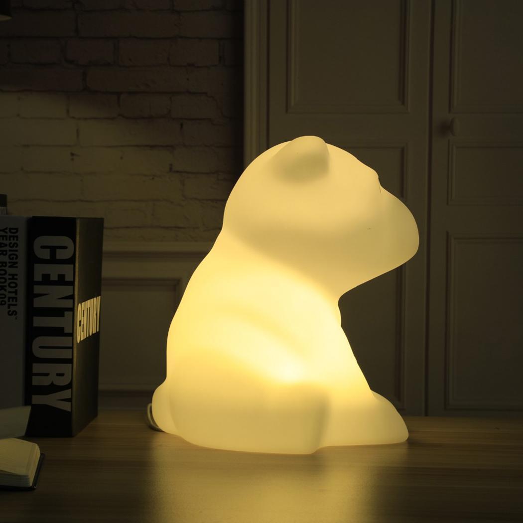 Bambini Luce di Notte del LED Dimmable Del Fumetto Dei Capretti 100 240 V luce Bianca Orso Polare Forma 5 W Lampada Decorativa - 4