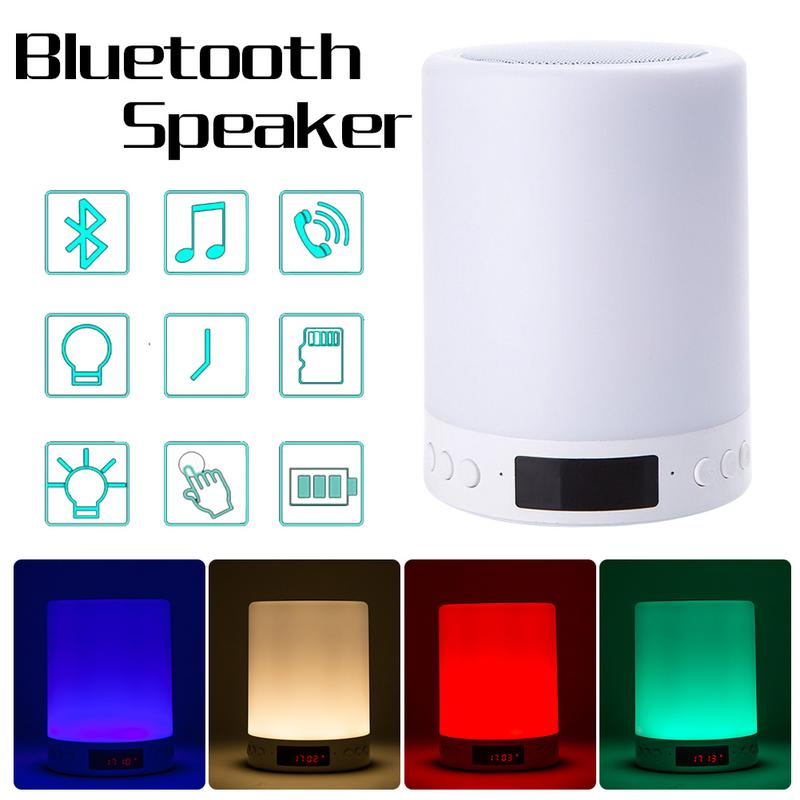 Clock Light-Speaker Bluetooth Smart Wireless New Colorful-Lights Night-Light Atmosphere