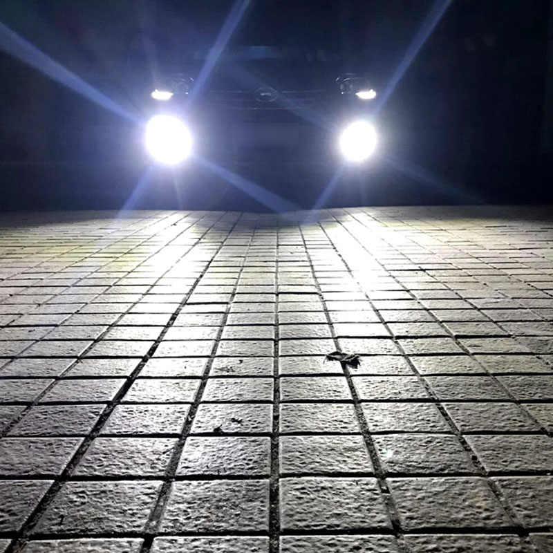 Zarpooz Kabut Lampu 12 V-24 V 72 W H4 LED H7 LED H1 H3 H4 H7 H8 H10 h27 HB4 Auto Lampu 2x LED Bulbyellow dan Warna Putih Lampu Kabut