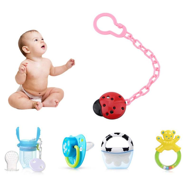 15Pcs Baby Pacifier Clip Holder Soother Pacifier Solid Color Infant Dummy Clips